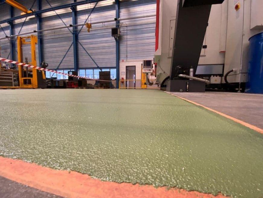 Rolvloersysteem fabriek Breda